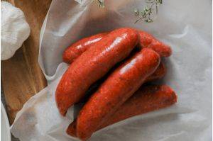 Chorizo sausages from The Primrose Herd online shop and farm butchery